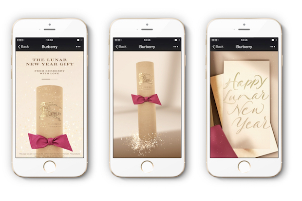 Burberry's CNY Campaign on WeChat